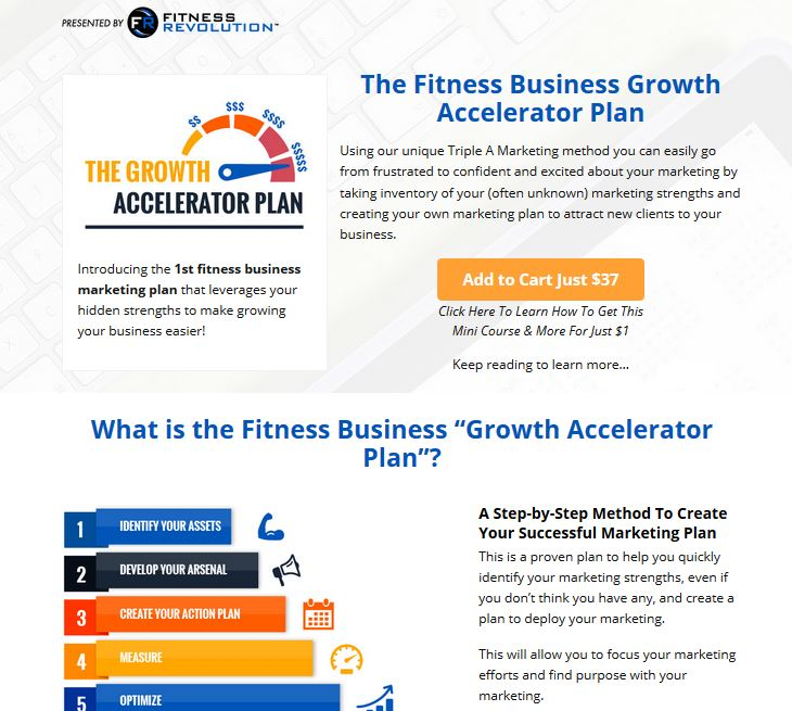 Fitness Revolution Growth Accelerator Plan