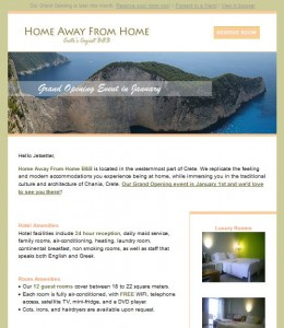 Home Away From Home Email