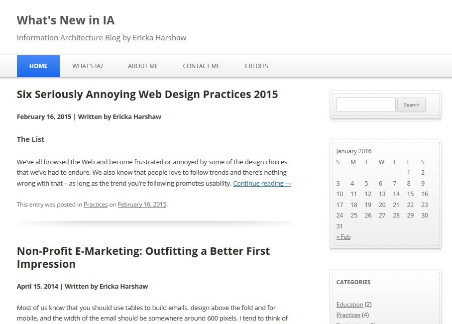 What's New In IA Blog