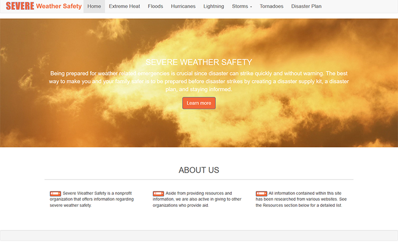 Severe Weather Safety Website